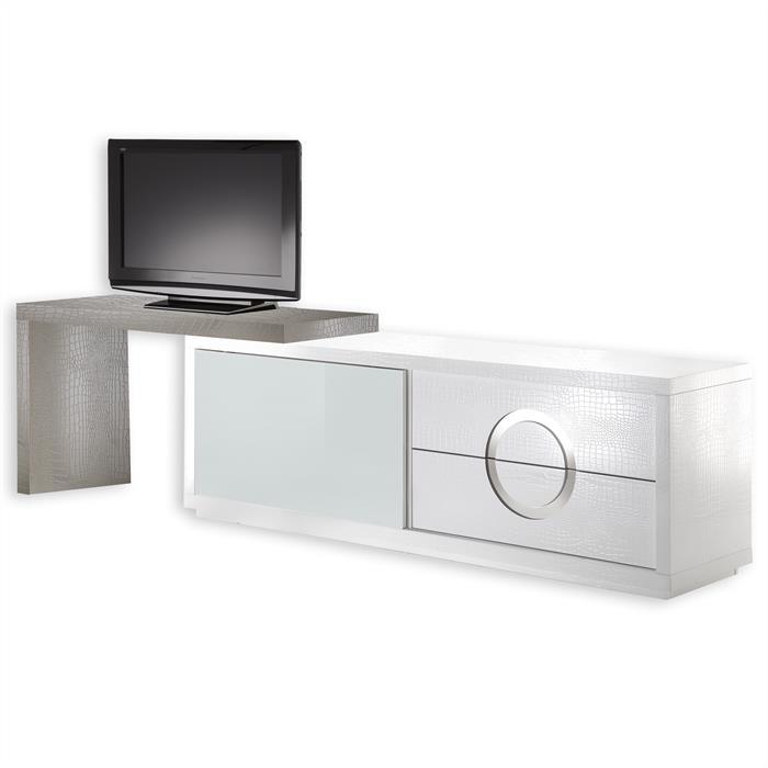 TV-Möbel ACAPULCO kroko, weiß cappuccino
