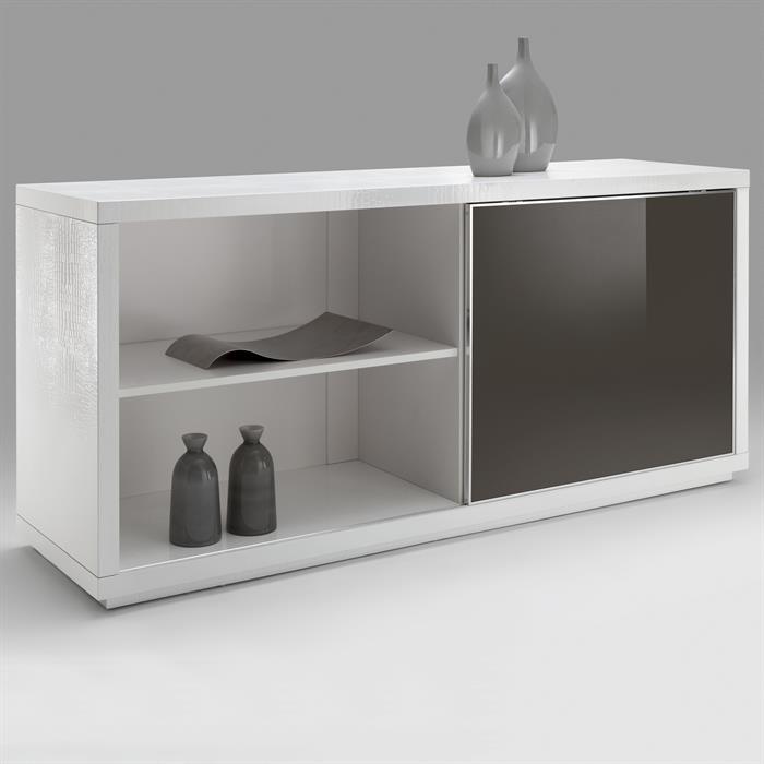 Desgin Buffet Sideboard ACAPULCO weiß/cappuccino