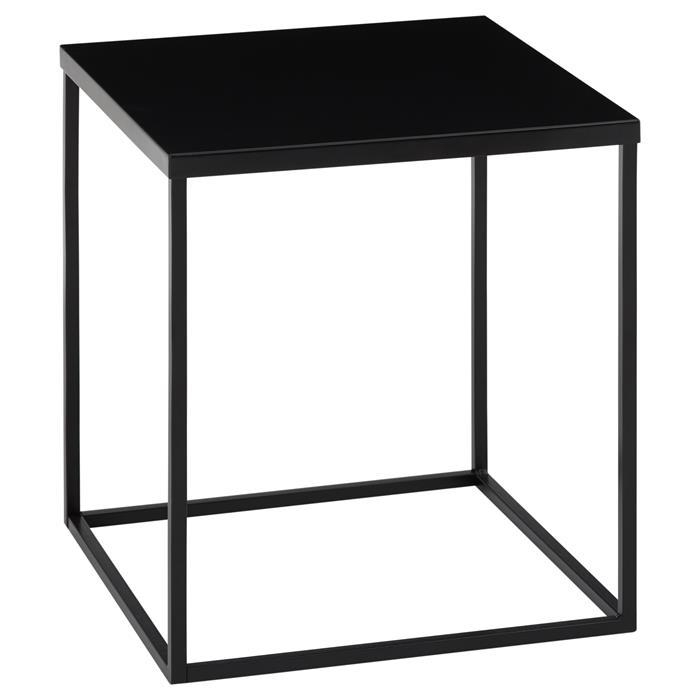 Beistelltisch HILAR 40 x 40 cm, schwarz