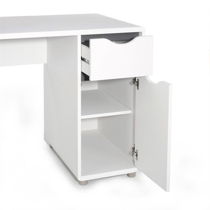 Schreibtisch FOX mit Schublade, weiß-grau