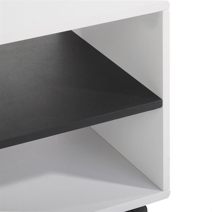 TV-Rack, TV-Möbel ATLANTA weiß-schwarz