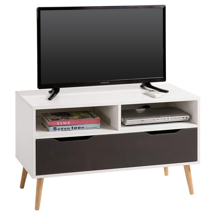 B-Ware  TV Rack GENOVA in weiß/grau foliert