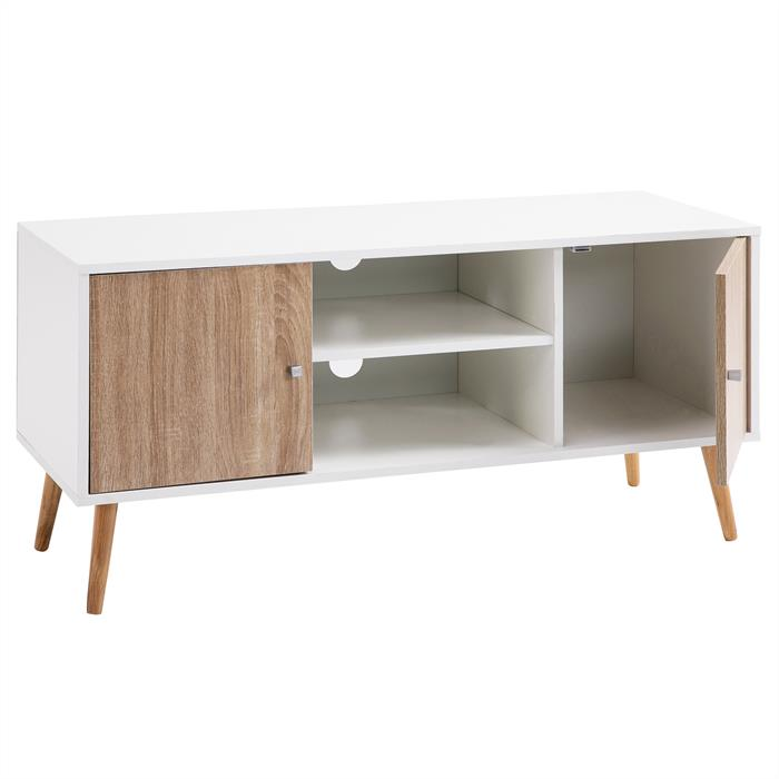 tv lowboard murica in wei sonoma eiche mobilia24. Black Bedroom Furniture Sets. Home Design Ideas