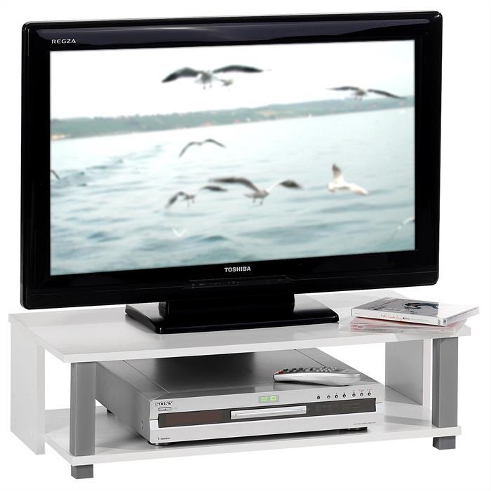 TV-Lowboard KENO in weiß, 1 offenes Fach