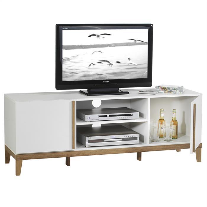 TV Rack RIGA in weiß