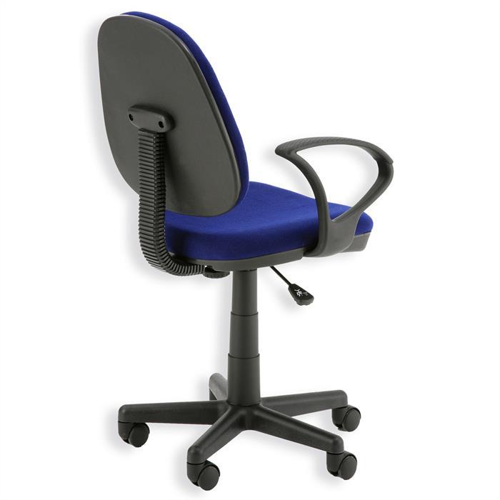 Bürodrehstuhl JENS in blau mit Armlehnen