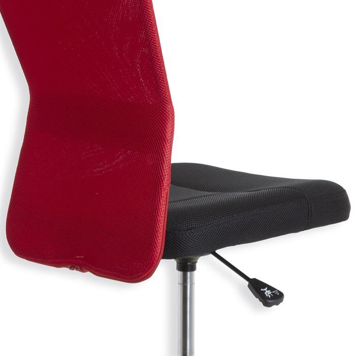 Kinderdrehstuhl MARCEL in rot-schwarz