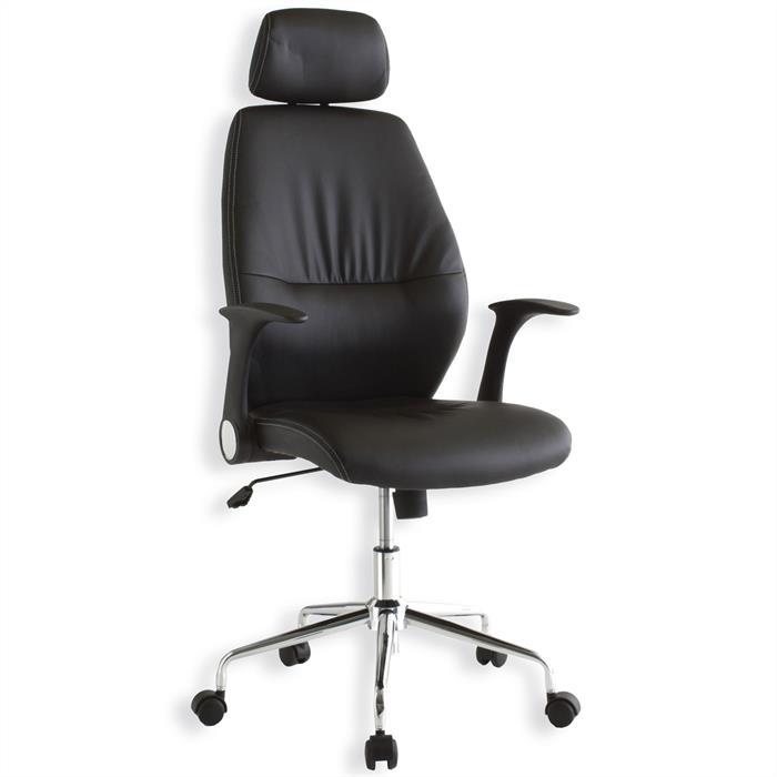 Bürodrehstuhl INGO in schwarz mit Armlehnen