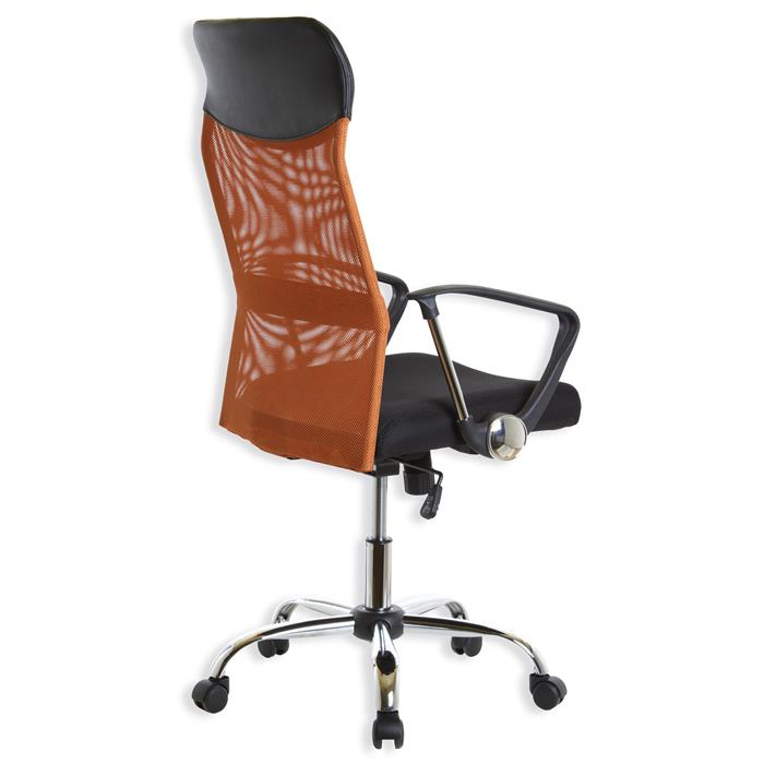 Schreibtischstuhl NORBERT, orange schwarz