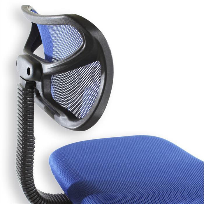 Kinderdrehstuhl STEFAN mit Netzbezug, blau