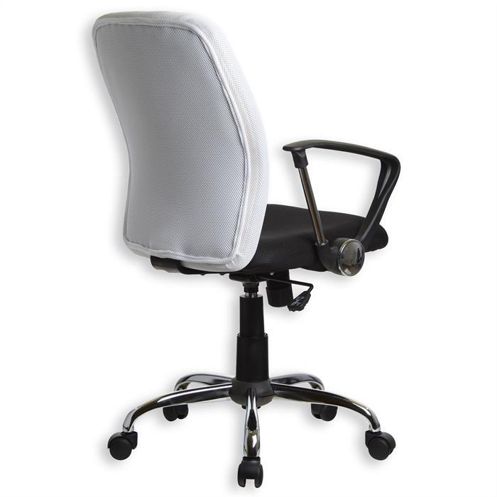 Bürodrehstuhl EDGAR in weiß-schwarz