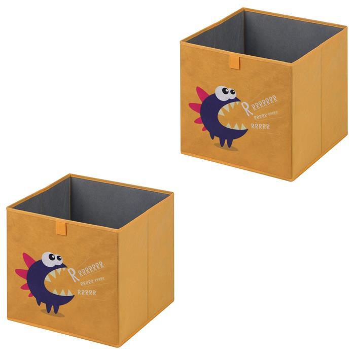 Stoffbox MONSTER-2 faltbar im 2er Pack