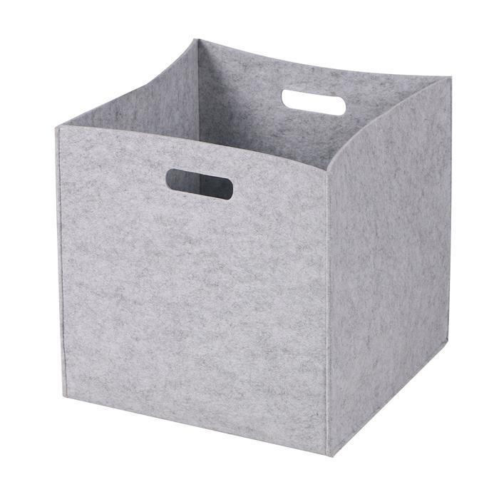 Stoffbox FELT faltbar im 2er Pack Filzstoff in grau