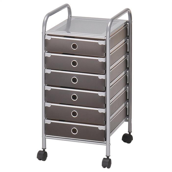 Rollcontainer RUBEN mit 6 Schubladen
