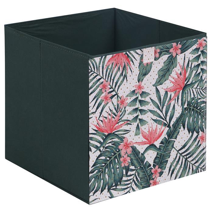 Stoffbox TROPICAL faltbar 2er Pack