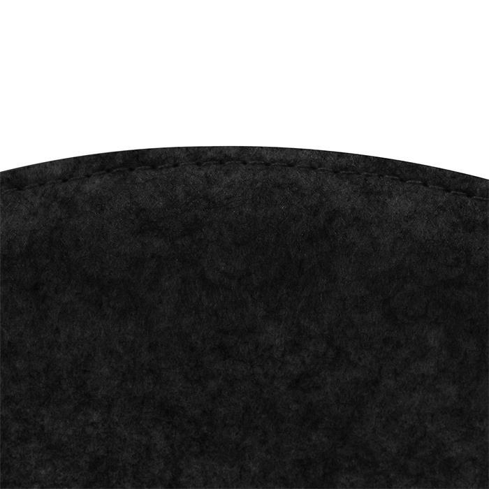 Sitzkissen JONITA im 2er Set aus Filzstoff in schwarz