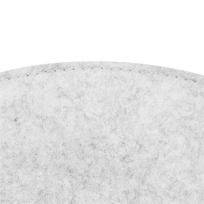 Sitzkissen JONITA im 2er Set aus Filzstoff in weiß