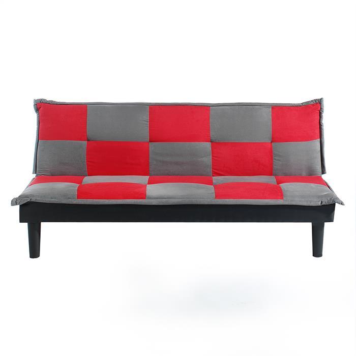 Sofabett Klappsofa MARIELE grau/rot