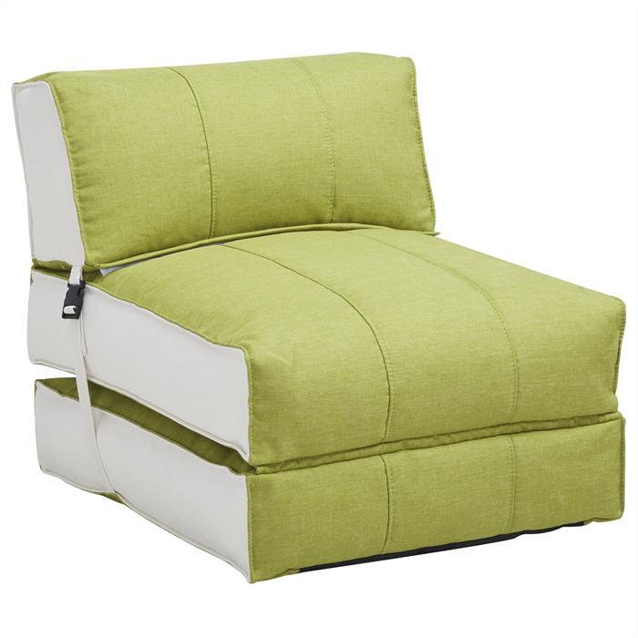 Sofaliege Faltmatratze Gästebett DAKAR grün/beige