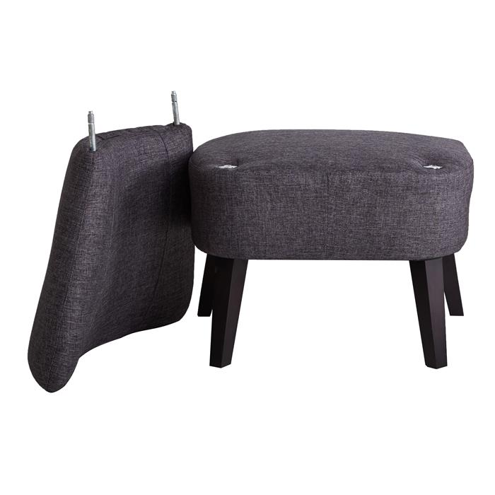 Lounge Sessel CAIRO Stoffbezug, dunkelgrau