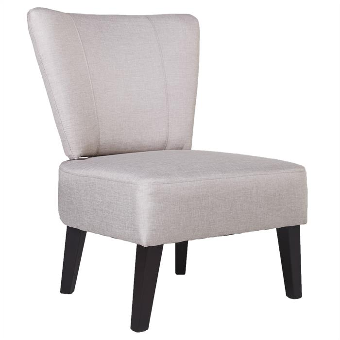 Lounge Sessel CAIRO Stoffbezug, hellgrau