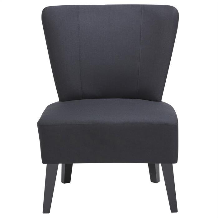 Lounge Sessel CAIRO Stoffbezug, schwarz