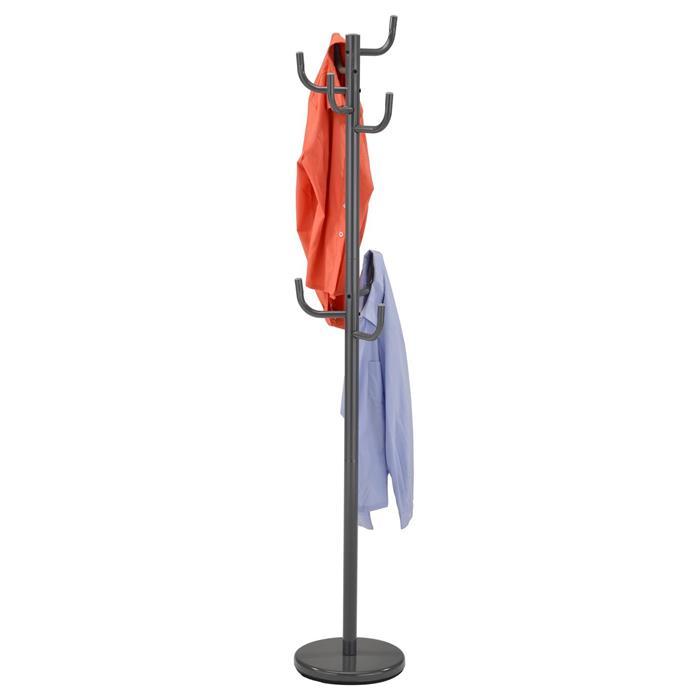 Kleiderständer MILA in grau mit 8 Haken