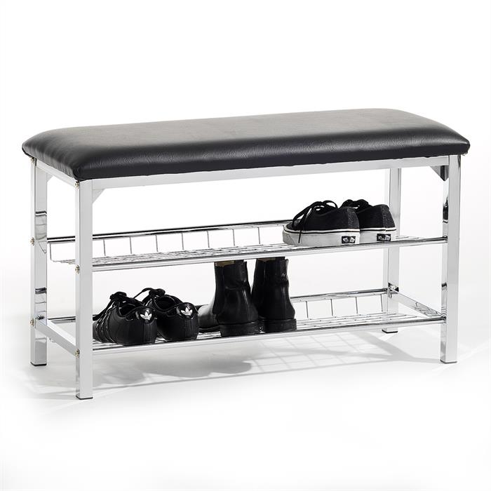 Sitzbank mit Schuhregal INA schwarz