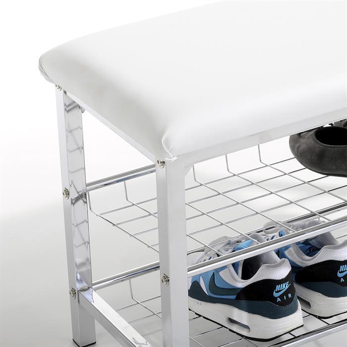 Sitzbank mit Schuhregal INA weiß