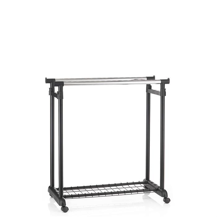 Garderobenwagen GROSSO, höhenverstellbar schwarz