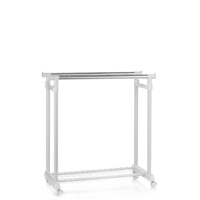 Garderobenwagen GROSSO, höhenverstellbar weiß