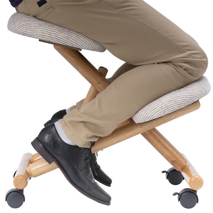 Kniehocker BORMIO höhenverstellbar, ergonomisch in beige