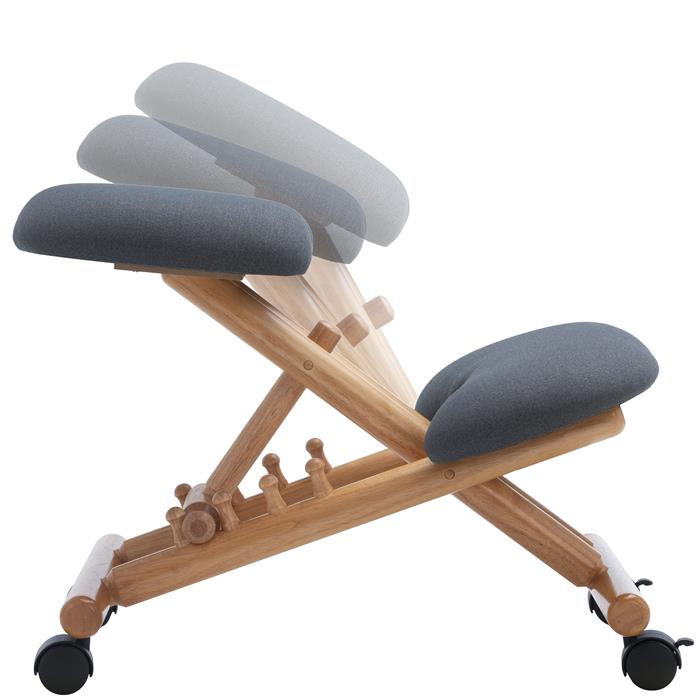 Kniehocker BORMIO höhenverstellbar, ergonomisch in grau