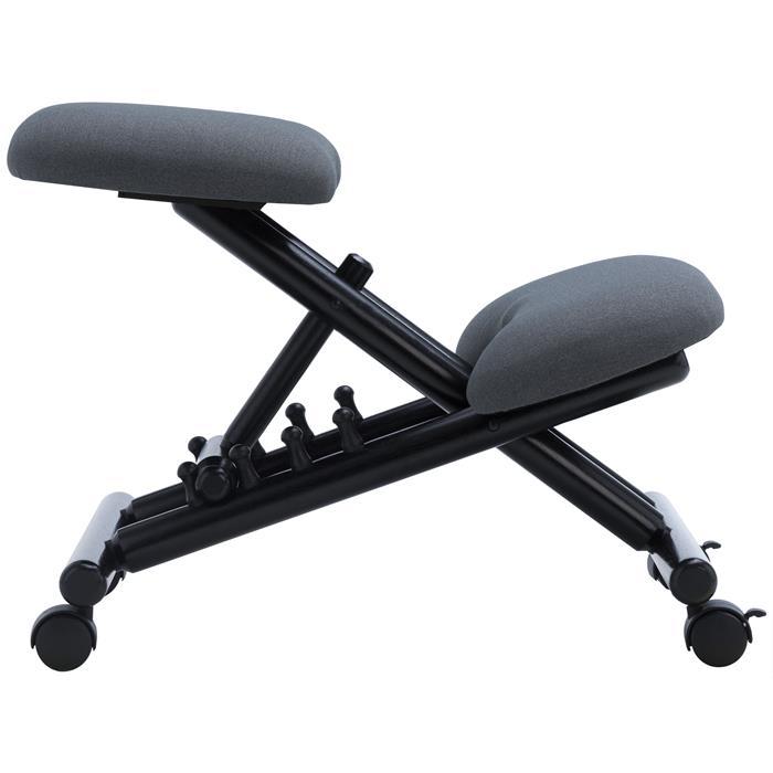 Kniehocker VICHY höhenverstellbar, ergonomisch in grau