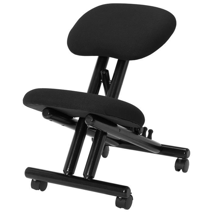 Kniehocker VICHY höhenverstellbar, ergonomisch in schwarz