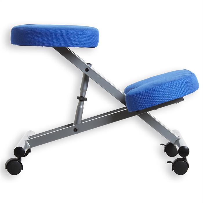Kniehocker Kniestuhl in blau/alufarben