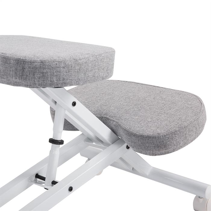 Kniehocker Kniestuhl in weiß/grau