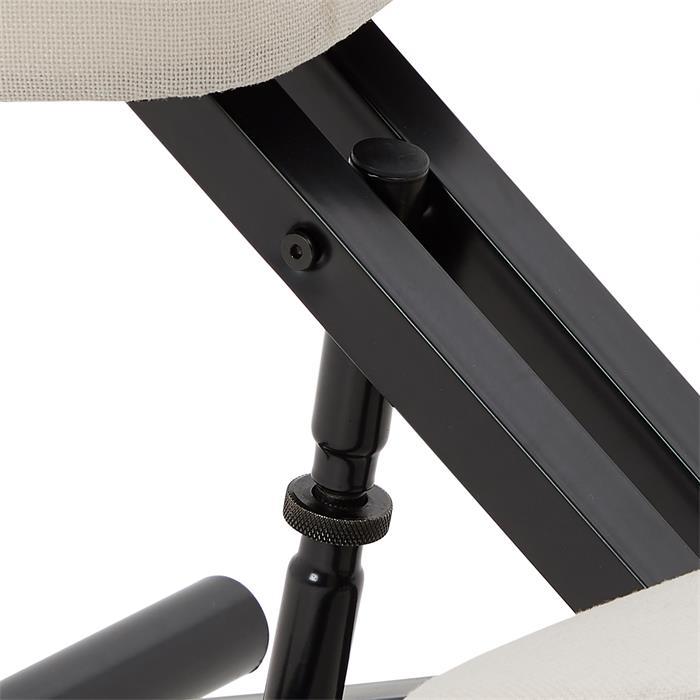 Kniehocker Kniestuhl in schwarz/weiß
