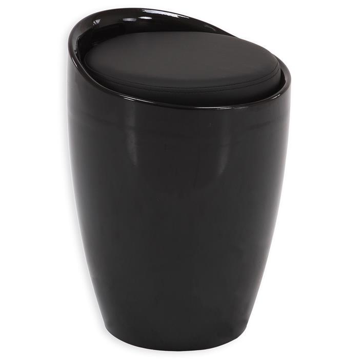 Sitzhocker DANIEL mit Stauraum schwarz