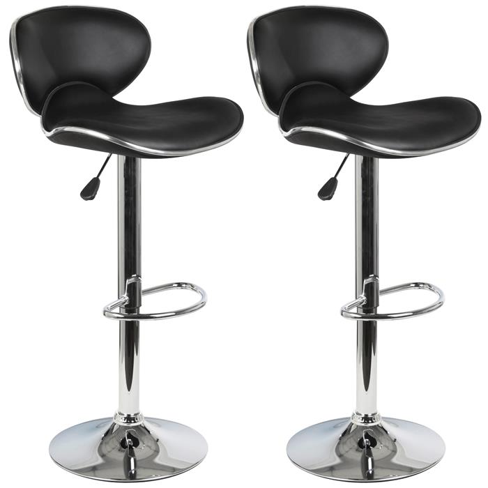 Barhocker LOUNGE, 2-er Set in schwarz
