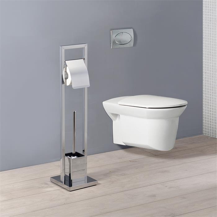 WC Garnitur TOMA verchromt, freistehend