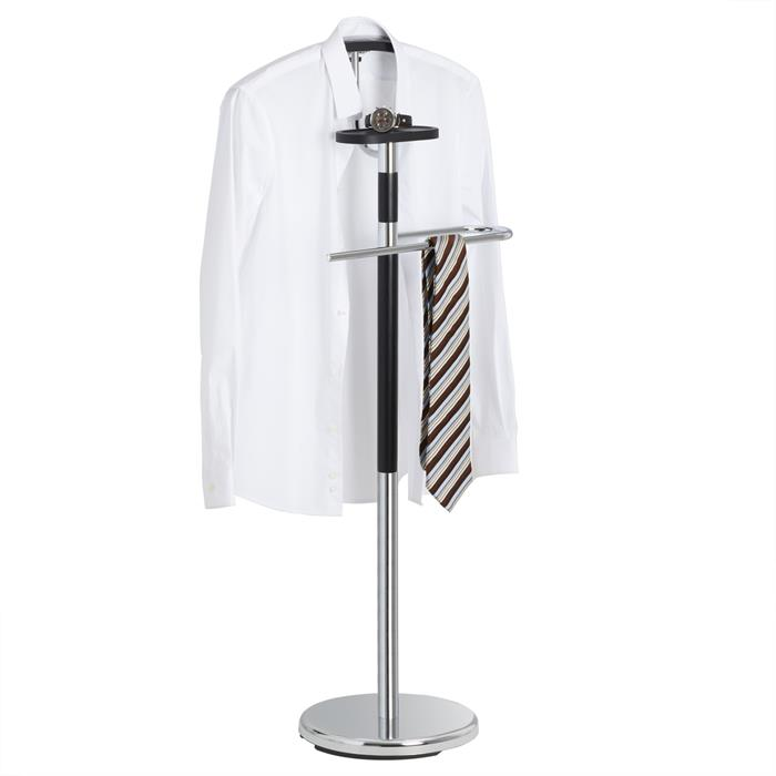 Herrendiener GAVINO mit Hosenbügel und Kleiderbügel chrom/schwarz