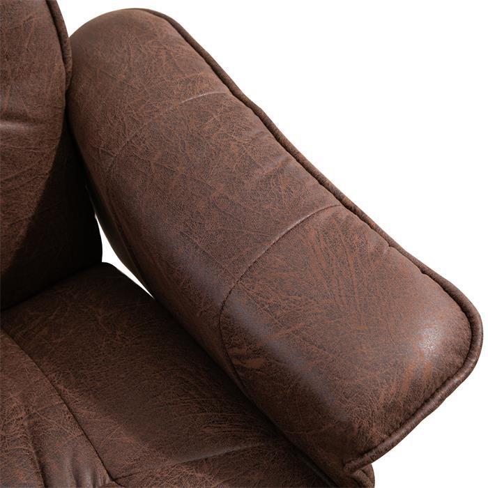 Relaxsessel mit Hocker CHARLY mit Stoffbezug in Vintage/schwarz Fußgestell schwarz
