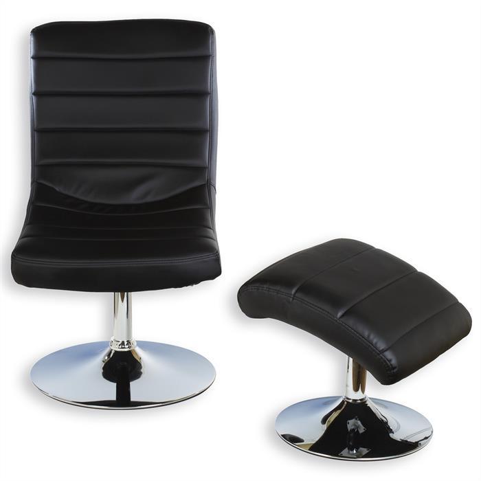 Relaxsessel mit Hocker FINN, schwarz