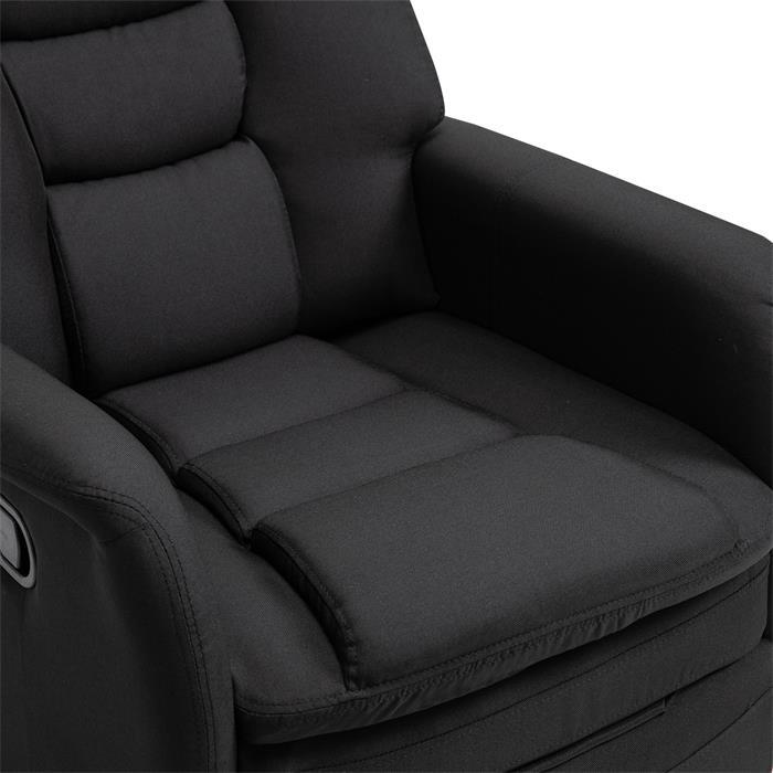 Fernsehsessel RELAJO mit Stoffbezug in schwarz
