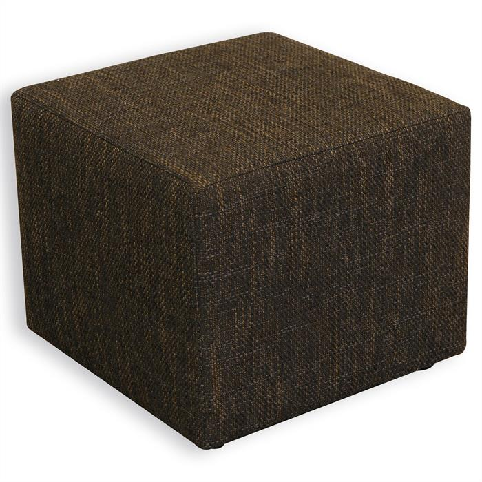 Sitzhocker Sitzwürfel Tweed-Optik schwarz/braun