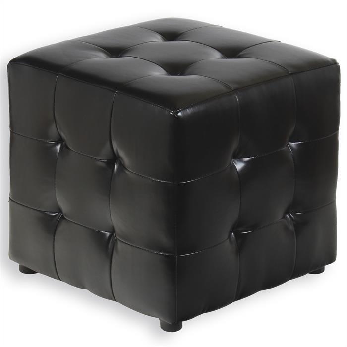 Würfelhocker Sitzhocker DIANA schwarz