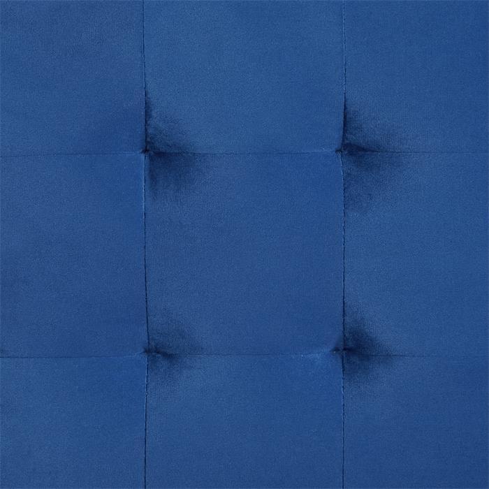 Würfelhocker BAZAR aus Samt Stoff in dunkelblau