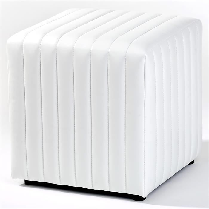 Sitzhocker Sitzwürfel EMIRA in weiß