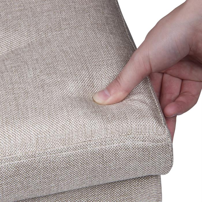 Sitzwürfel RENATA, faltbar in beige